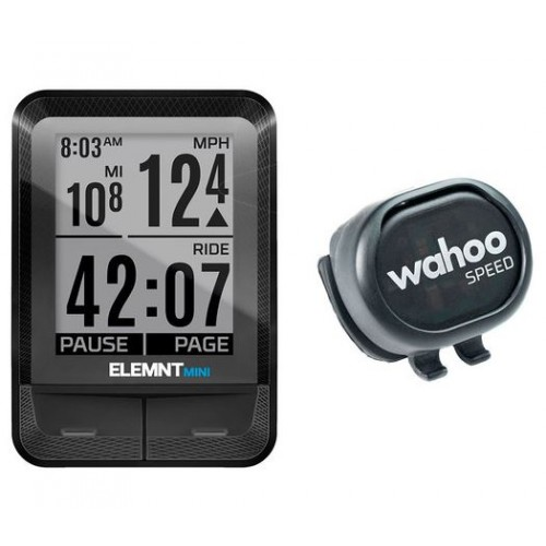 Wahoo ELEMNT MINI Bike Computer Smart RPM Speed Sensor