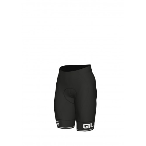 ALÉ Linea Solid Corsa Shorts- Black/ White