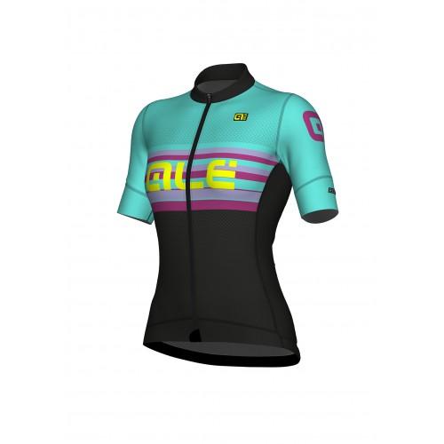 ALÉ Linea R-EV1 Summer Women Jersey - Black/Turquoise
