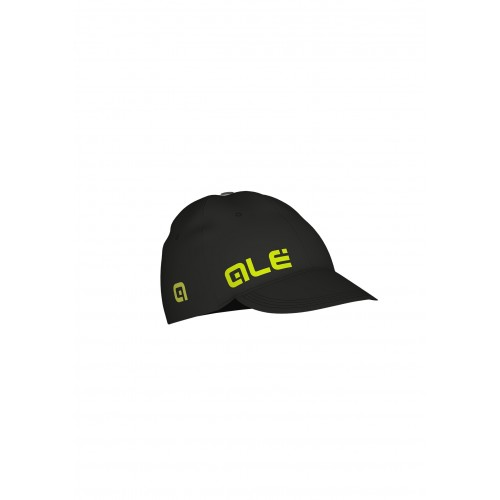 ALÉ Cycling Summer Cap - Black/Fluo Yellow