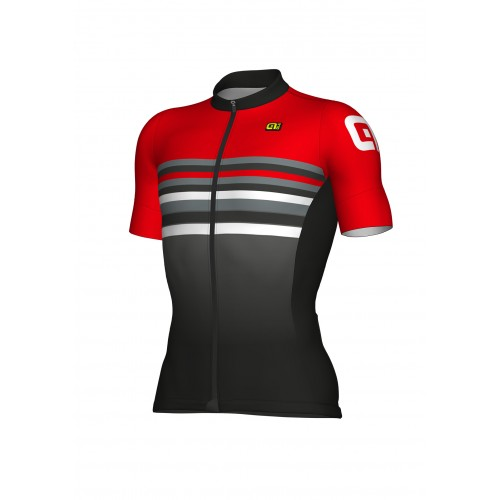 ALÉ Cycling Formula 1.0 Stripe Jersey - Black/Red