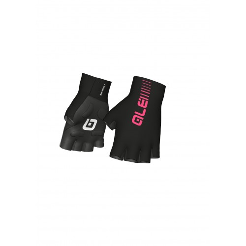 ALÉ Cycling Sunselect Crono Glove - Black/Fluo Pink