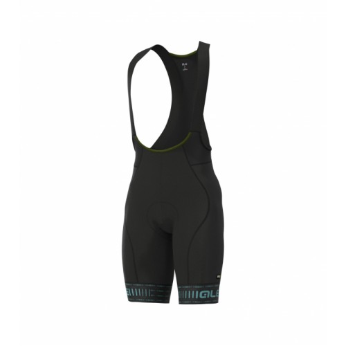 ALÉ PRR Green Road Bib shorts Black Turquoise