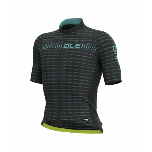ALÉ PRR Green Road Jersey Black Turquoise