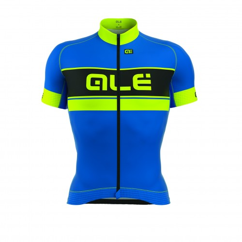 ALÉ PRR Bermuda Short Sleeve Jersey Blue/Fluo Yellow
