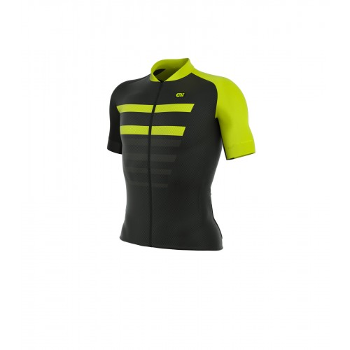 ALÉ PRR 2.0 Piuma Short Sleeve Jersey Black/Fluo Yellow
