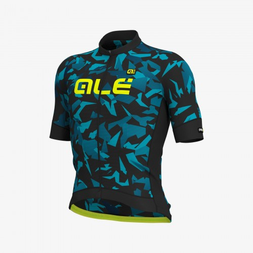 ALÉ PRR 2.0 Glass Short Sleeve Jersey Black/Petrol/Turquoise