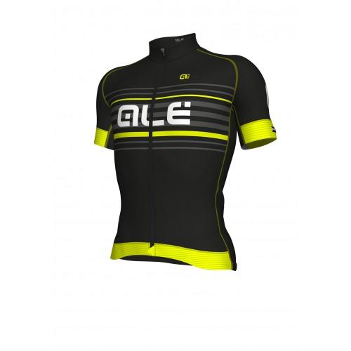 ALÉ PRR 2.0 Salita Short Sleeve Jersey Black/Fluo Yellow
