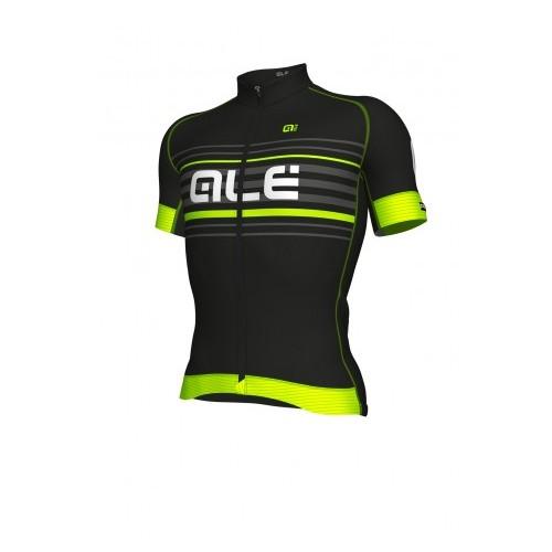 ALÉ PRR 2.0 Salita Short Sleeve Jersey - Black/ Fluo Yellow