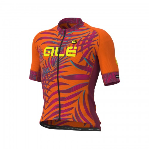 ALÉ PRR 2.0 Sunset Short Sleeve Jersey - Fluo Orange/ Plum