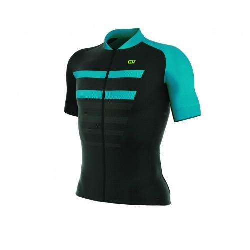 ALÉ REV 1 Piuma Jersey - Black/ Turquoise