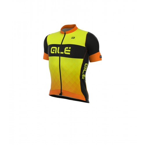 ALÉ R-EV1 Rumbles Short Sleeve Jersey - Black/Orange/Fluo Yellow