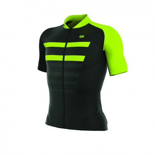 ALÉ REV 1 Piuma Short Sleeve Jersey Black/Fluo Yellow