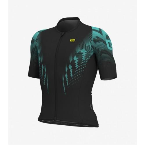 ALÉ R-EV1 Pro Race Jersey - Black/Turquoise