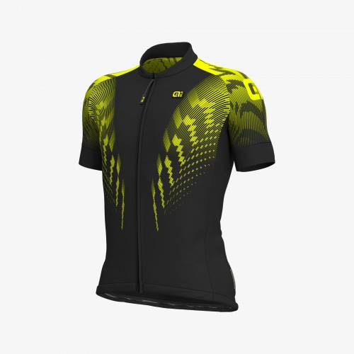 ALÉ R-EV1 Pro Race Jersey - Black/Fluo Yellow