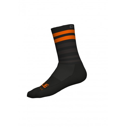 ALÉ Cycling Linea Speed Fondo Socks Q-Skin 16cm - Black/ Fluo Orange
