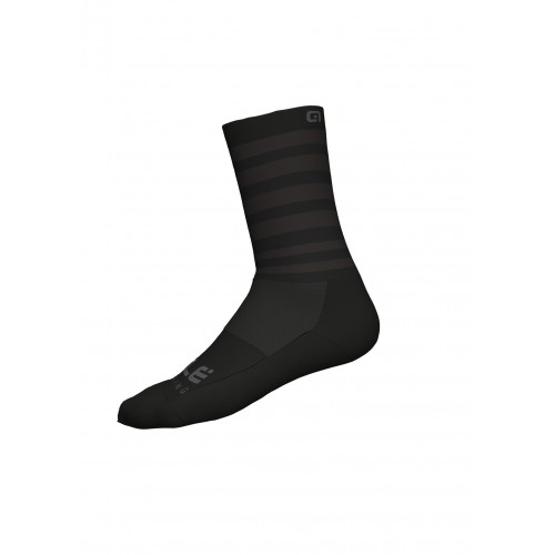 ALÉ Cycling Linea Speed Fondo Socks Q-Skin 16cm - Black/Grey