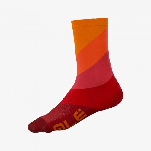 ALÉ  Diagonal Digitopress Socks Red