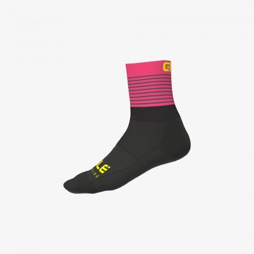 ALÉ Linea Piuma Socks - Black/ Fluo Pink