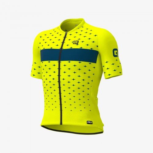 ALÉ Stars Fluo Yellow Men Short Sleeves Jersey | Graphics PRR