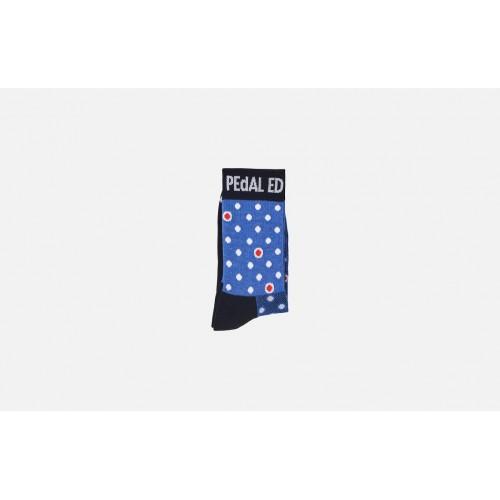 PEdALED Dario Dot Socks - Blue