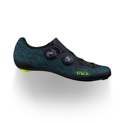 Fizik Infinito R1 Knit Road Shoes Petroleum Blue/Yellow